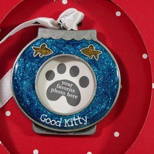 """Holiday Collectible """"Good Kitty"""" Ornaments Lot of2"""